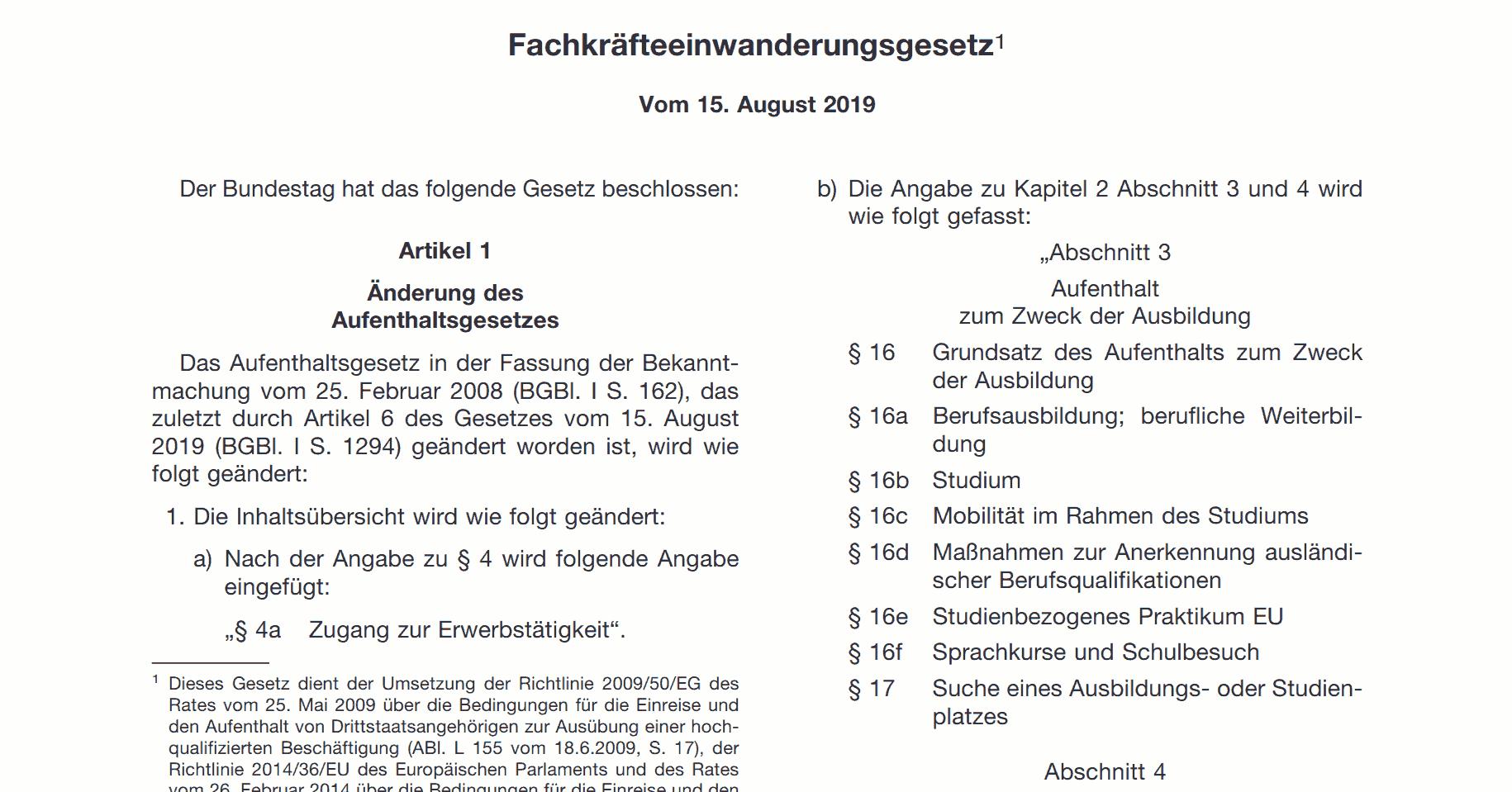 Fachkräfteeinwanderungsgesetz in Deutschland - Новый Закон об иммиграции специалистов в Германии - Новий Закон про імміграцію спеціалістів