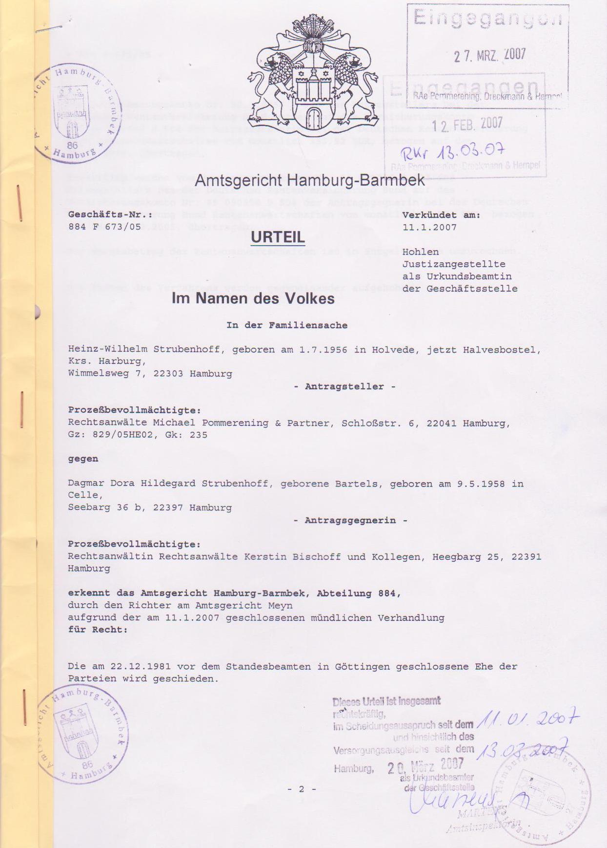 образец перевода свидетельства о расторжении брака на немецкий